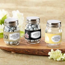 Mini Glass Mason Jar - Birthday (2 Sets of 12) (Available Personalized)  - $39.99