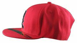Dissizit Mens Dx Bones English D Red Snapback Baseball Hat Cap Slick Compton NW image 5