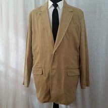 Breakwater XL Khaki Jacket Mens Coat 2 Button No Liner Tan Blazer Canvas Feel - $20.00
