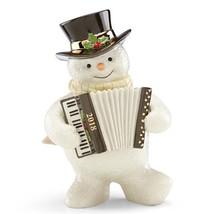 Lenox 2018 Snowman Frosty Figurine Annual Accordion Accordionist Christm... - $52.00