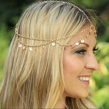 Gypsy Head Chain  Head chain jewelry with Coin Sequence - $14.99
