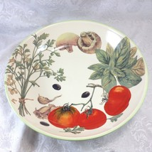 "Williams Sonoma 13"" Herbs Tomatoes Ceramic Pasta Serving Bowl - €19,27 EUR"