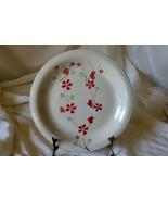 Pier 1 Red Flowers & Green Berries Dinner Plate - $6.92