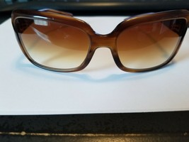 OLIVER PEOPLES Dunaway SYC Sunglasses Marbled Brown ~ Amber Gradient ~ 59mm - $39.60