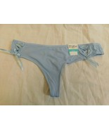 Rue 21 Women's Thong Panties X-LARGE Blue Ribbon Tie Front Panels Hot! New - $10.88