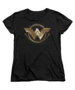 Authentic Wonder Woman Movie Lasso W Winged Logo Emblem Ladies Women T-s... - £21.79 GBP+