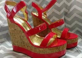 Ralph Lauren TERESSA Women's Wedge Platform Sandals Strappy Heels GUAVA ... - $56.41
