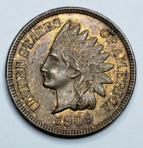 1909 Indian Head Cent Penny Coin Lot 519-106