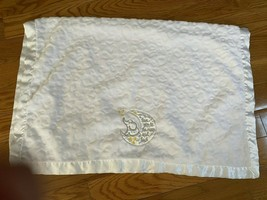 BABY STARTERS WHITE  I LOVE YOU TO THE MOON ELEPHANT BLANKET GUC  - $19.05