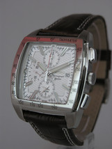 Seiko mens watches chronograph alarm date brown strap silver tone case  SNAC27P1 - $238.59