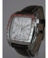 Seiko mens watches chronograph alarm date brown strap silver tone case  ... - $238.59