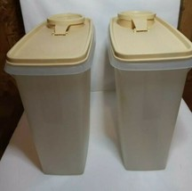 Lot of 2 Vintage Tupperware Cereal Keeper Storage Container Store n Pour... - $12.86