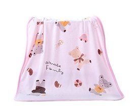 Pink Bear Microfiber Baby Washcloth, 75 by 140 cm