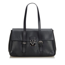Pre-Loved Louis Vuitton Black Epi Leather Segur MM Shoulder Bag France - $631.29