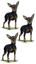 Min Pin Pinscher Small Breed Dog Pet Decal Sticker - Auto Car Truck RV Cup Boat - $5.99