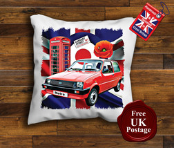 Austin Metro Cushion Cover, Mini Metro Cushion, Union Jack, Target, Poppy, - $9.31+