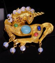 KJL Brooch / Vintage Unicorn pin / Fantasy collection / Mythological horse / FIG - $275.00