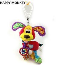 Happy Monkey Baby Rattle Teether Newborn Soft Plush Toys  Baby Crib Hang... - $25.00