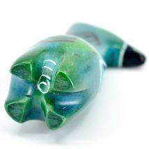 Crafts Caravan Hand Carved Soapstone Turquoise Blue Giraffe Figurine Made Kenya image 5