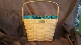 Longaberger 1992 Edition Dresden Basket With Swing Handle Fabric Liner P... - $14.00