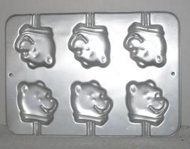 Wilton #2105-8108 Winnie the Pooh 6-Lollipop Cupcake Cake Pan Aluminum P... - $10.89