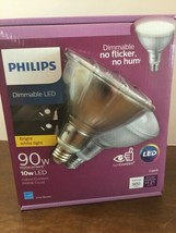 2 PACK Philips 90 Watt Equiv PAR38 Dimmable LED Flood Light Bulb 10W Indoor/Out - $14.85
