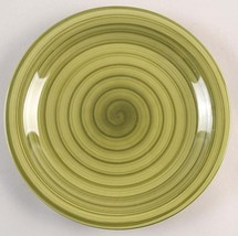 New Handpainted Design Sage Green Colored Swirl Design Large Dinner Plat... - $16.99