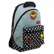 Wonder Woman Denim Patch Backpack Blue - $40.98