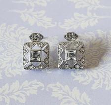 """Premier Designs, Inc. Silvertone Pierced Earrings NEW 1/2""""  - $12.99"""