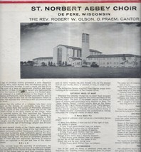 Old Vintage St. Norbert Abbey Choir West De Pere Wisconsin LP Record Alb... - $24.99