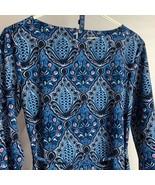 Women's Ann Taylor LOFT Blue Print Belted Tunic Dress Size XS - $24.75