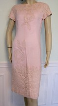 1950s Dress Henry Lee Applique Pink Linen - $110.00
