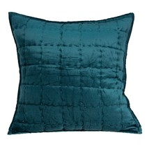 Parkland Collection Cyrene Transitional Teal Solid Quilted Pillow Cover ... - $56.08