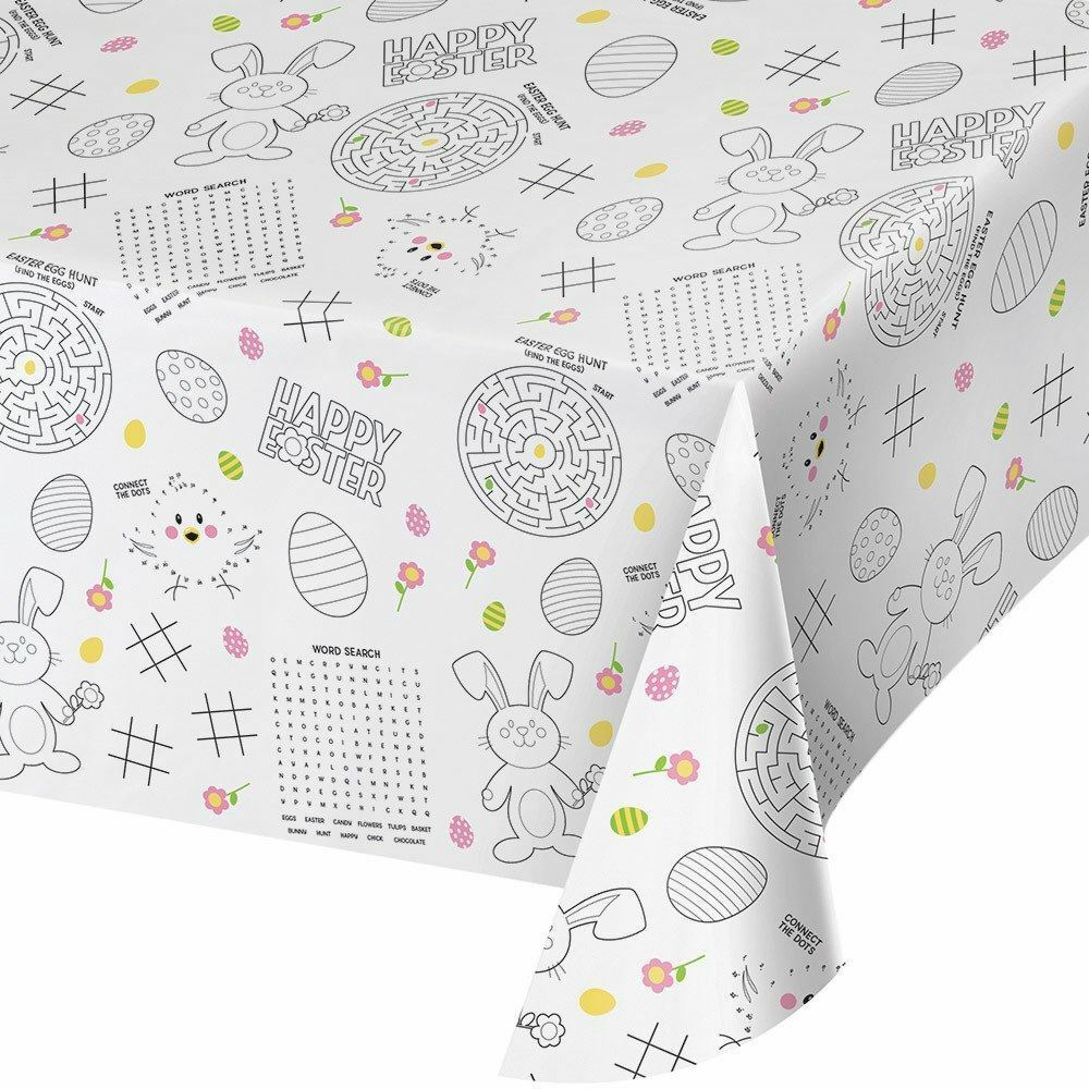 Kids Easter Paper Activity Tablecover All Over Print 54 x 88