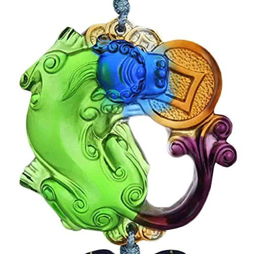 Chinoiserie Car Pendant Coloured Glaze Car Pendant(Colorful)