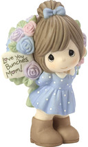 Precious Moments Love You Bunches Mom Girl Bisque Porcelain 183004 Figur... - $75.73