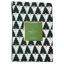 "Kate Spade Srpuce Street Green Evergreen Trees Tablecloth 102"" Oblong - $65.00"