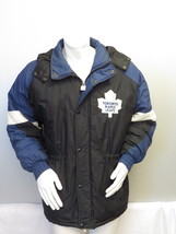 Vintage Toronto Maple Leafs Puffy Parka / Jacket by Chalkline - Men's Medium   - $175.00