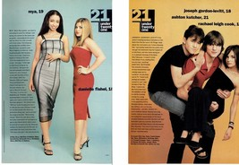 Danielle Fishel Rachel Leigh Cook Ashton Kutcher teen magazine pinup clippings