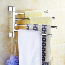 Stainless Steel Bathroom Rotating Towel Bar Wall Mounted Bathroom Kitche... - $24.58