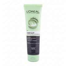 L'OREAL SKIN EXPERT PARIS PURE CLAY CLEANSING GEL 150ml WASH REDUCES EXC... - €11,58 EUR