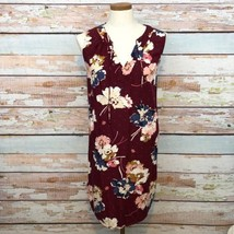 Old Navy Floral Shift Dress Boho Peasant Sleeveless Tie Neckline Sz Large - $263,95 MXN