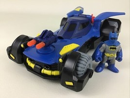 Imaginext DC Super Friends Deluxe Batmobile Batman Car Vehicle Lot 2015 ... - $34.60