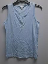 Charter Club Intimates Sleeveless Sleep Shirt, LIght Blue, Medium - $12.86