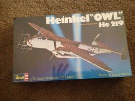 """NEW OLD STORE STOCK: SEALED REVELL HEINKEL """"OWL"""" HE-219 AIRPLANE MODEL K... - $30.69"""