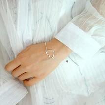 Delicate Minimalist Heart Bracelet • 925 Silver Bracelet • Love, Heart, Fashion - $17.99