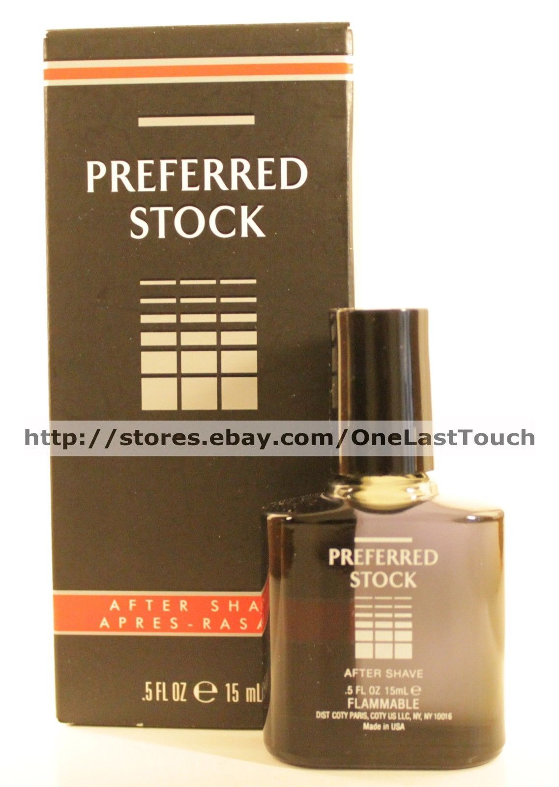 COTY* .5 fl oz PREFERRED STOCK After Shave SPLASH For Men TRAVEL SIZE Gift Boxed