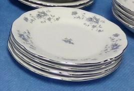 "Johann Haviland Blue Garland 4 Bread and Butter Plates 6"" Bavaria Germany  - $19.99"