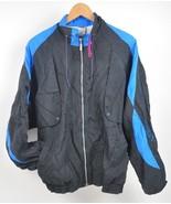 Vintage PUMA Windbreaker Jacket Color block LARGE 100% NYLON Black/Blue/... - $24.75
