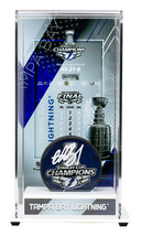 Andrei Vasilevskiy Signed Lightning Stanley Cup Champs Logo Puck w/Case Fanatics - $197.99